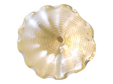 "Dale Tiffany AW18002-D20 - Beige Feather 20""D Hand Blown Art Glass Wall Décor"