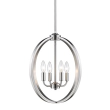 Golden 3167-4P PW - Colson PW 4 Light Chandelier in Pewter