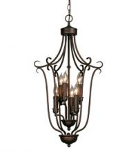 Golden 6426-6 RBZ - 3 Tier - 6 Light Caged Foyer