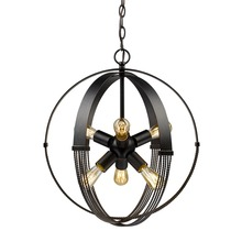 Golden 7001-6P ABZ - 6 Light Pendant