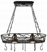 Kenroy Home 90308BRZ - 2 Light Pot Rack