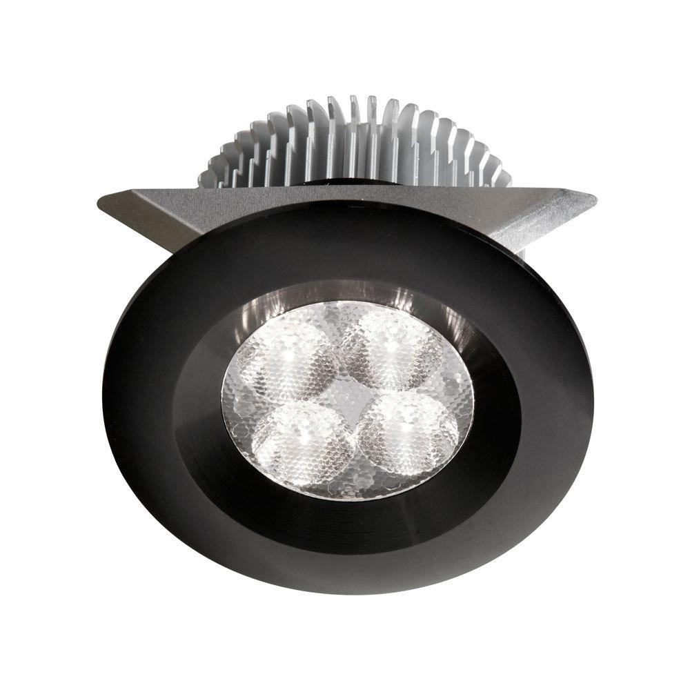 24v dc8w black led cabinet light