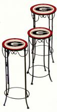 College Lamps and Accessories GA920 - University of Georgia Nesting Tables