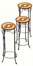 College Lamps and Accessories OKST920 - Oklahoma State Unversity Nesting Tables