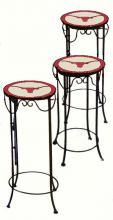 College Lamps and Accessories TEX920 - University of Texas Nesting Tables