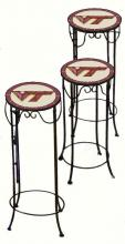 College Lamps and Accessories VAT920 - Virginia Tech University Nesting Tables
